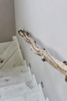 driftwood/branch handrail
