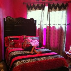 Pink and black and white and zebra I love it I cant stop pinning things that are zebra that is for my sis Madison