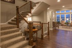 The beautiful staircase of the Arlington leading to the lower level and the second floor. When you reach the top of the staircase on the second floor of the Arlington you are greeting by a charming sitting area.
