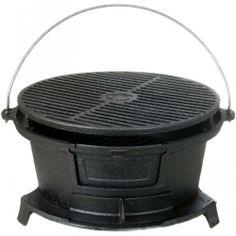 New Cajun Cookware Grills Round Seasoned Cast Iron Hibachi BBQ Grill   eBay