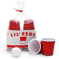 LIL' REDS DISPOSABLE SHOT GLASSES