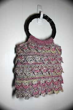 Striped Crocheted Purse