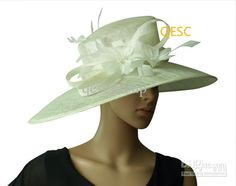 Cheap Derby Hat - Discount Sinamay Church Kentucky Derby Hat with Ostrich Feather Online with $26.5/Piece   DHgate