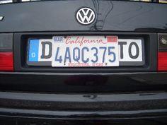 Us License Plate Over Euro Plate Google Search Bmw E36