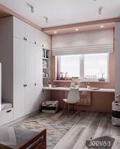 Interior Design and Home Decor Ideas Small Room Bedroom, Home Bedroom, Kids Bedroom, Bedroom Decor, Small Bedrooms, Kids Room Design, Home Room Design, Home Office Design, Girl Bedroom Designs