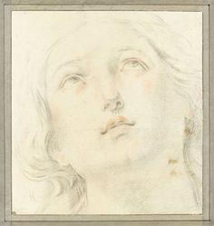 Tête de femme, de face, les yeux au ciel - RENI Guido