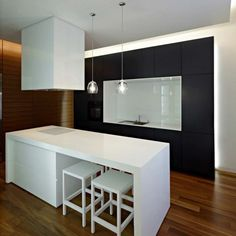 Interior Design: Modern Kitchen Black and White