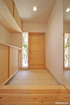 Ym-House (entrance hall) of hallway ideas ideas modern ideas long ideas rustic entryways Modern Japanese Interior, Japanese Modern House, Japanese Interior Design, House Entrance, Entrance Hall, Muji Haus, Dream Home Design, House Design, Interior Exterior