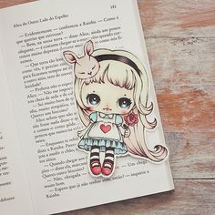 If you love Alice in Wonderland just as much as I do, this bookmark is for you! This bookmark is laser printed, cut by hand and protected with