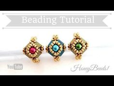 Tilaria Ring Easy Beading Tutorial by HoneyBeads1 - YouTube