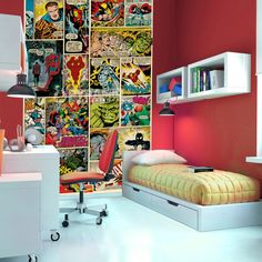 This Marvel mural is a must for any true fan. Get yours from www.vinylwarehouse.co.uk #be_inspired #inspire_others #vinyl #wall #murals #stockist #Marvel #comics