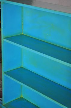 cool paint treatment for simple shelf