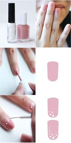 How to Get cute Spotted nails   Manicure Tutorials