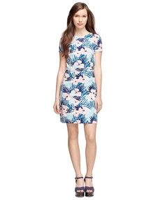 Cotton Floral Printed Dress - Brooks Brothers