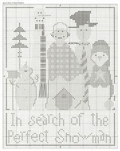 Gallery.ru / Фото #72 - 135 Cross Stitch - joobee perfect snowman chart