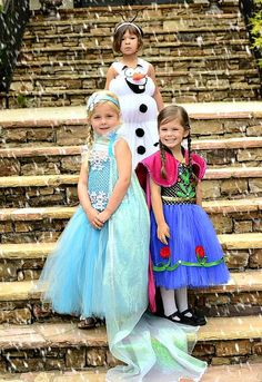 3 Frozen Elsa Anna & Olaf Dress Set inspired by BlissyCouture
