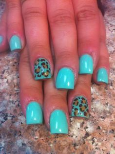 Blue Leopard. #Nails #Beauty #Gifts #Holidays Visit Beauty.com for more.
