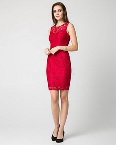 Lace Illusion Cocktail Dress - A delicate lace illusion defines this alluring and elegant dress. Dress P, Bodycon Dress, Elegant Dresses, Formal Dresses, Party Gowns, Contemporary Fashion, Fashion Outfits, Illusion, Pretty