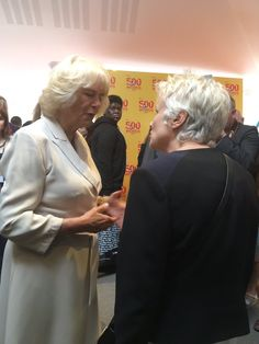 The Duchess of Cornwall chats with #JulieWalters #500words