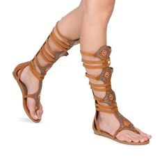 Walk in the festival with these boho chic sandals!  #ShoeDazzle #shoes #festival #fashion