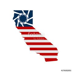 """""""Hands Helping Northern California, Vector Illustration in White Background"""" Stock image and royalty-free vector files on Fotolia.com - Pic 176302053"""
