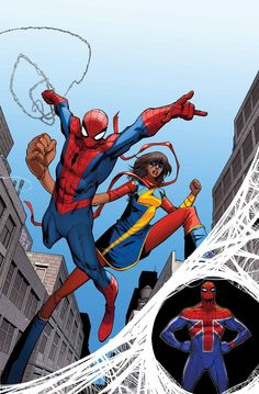 AMAZING SPIDER-MAN #7 DAN SLOTT (W) • GIUSEPPE CAMUNCOLI (A/C) Variant Cover by JAVIER PULIDO DEADPOOL 75th VARIANT COVER BY TBA HASBRO VARAINT COVER BY TBA STOMP OUT BULLYING VARIANT COVER BY TBA • Peer over the EDGE OF SPIDER-VERSE! • Spidey teams up with Ms. Marvel in a high-flying (stepping in Kamala's case) adventure! • Who is Spider-UK and what does he have to do with SPIDER-VERSE? 32 PGS./Rated T …$3.99