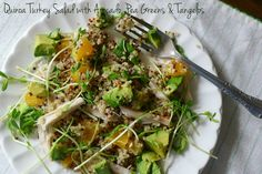 A simple quinoa and avocado salad with a touch of citrus!