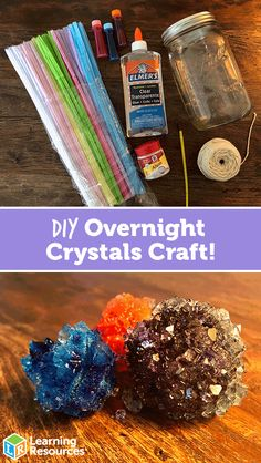 Overnight Crystals Craft Looking for a fun sleepover activity? Check out this DIY Overnight Crystals Craft!Looking for a fun sleepover activity? Check out this DIY Overnight Crystals Craft! Fun Crafts For Kids, Diy Crafts To Sell, Diy For Kids, Craft Kids, Sell Diy, Fun Easy Crafts, Kid Crafts, Fun Projects For Kids, Creative Crafts