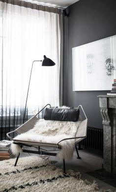 = black, chair and fur = the black apartment = 79 ideas