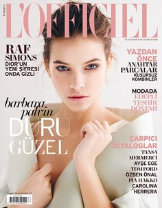 Lovely cover of Barbara Palvin for L'Officiel Turkey, May 2013. Photographed by Emre Guven.