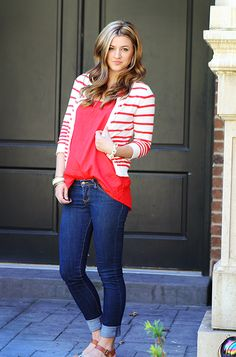Bright stripes for a casual look.