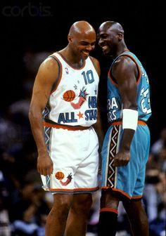Barkley and Michael Jordan 1996 NBA All-Star Game