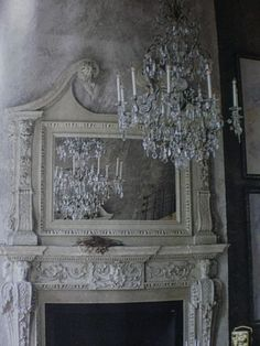 The house I grew up in had a mirror/mantel like this in each bedroom (each unique). Wish I could have taken it with me when I moved out.