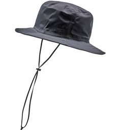 Shrug storms off and keep your eyes on the trail with this rain hat. Made from PROOF™ fabric, it has a mesh lining for comfortable breathability, a Waterproof Hat, Waterproof Fabric, Rain Hat, Sun Hats, Rainy Days, Surf, Unisex, Men, Black