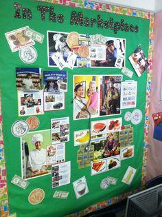 In The Marketplace - 2nd Grade Social Studies Bulletin Board