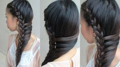 Side-Swept Mermaid Braid, lace braid