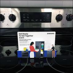 Just putting this Samsung Stovetop Appliance Promotion atop the appliance captures attention … either because of the natural negative space, or. Close Up, Promotion, Appliances, Miniatures, Samsung, How To Get, Ideas, Gadgets, Accessories