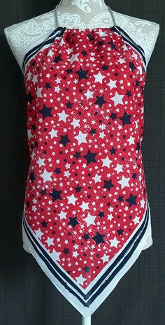 Bandana Halter Top Shirt Red White and Blue by GreatDayGifts