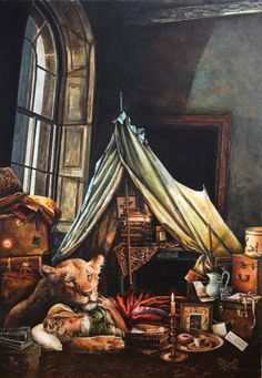 """Nightfall"" acrylic painting by Lori Preusch"