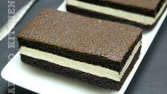 Prajitura Kinder felie de lapte | Adygio Kitchen Cake Recipes, Dessert Recipes, No Cook Desserts, Homemade Cakes, Vanilla Cake, Nutella, Tiramisu, Biscuits, Good Food