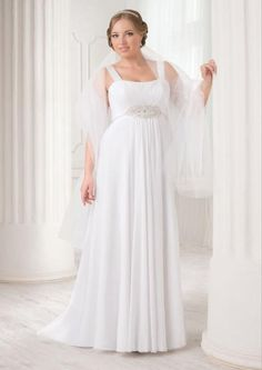 Huge part of wedding dresses for bride are designed for thin women. Plus size women spent on wedding dress searches twice the time. Trends 2018, 2016 Wedding Dresses, Bridal Dresses, Greek Dress, Bridesmaid Dresses Plus Size, Bridal Dress Design, Glamour, Plus Size Girls, Empire Style