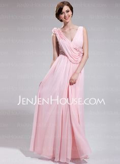 Evening+Dresses+-+$142.99+-+A-Line/Princess+V-neck+Floor-Length+Chiffon+Sequined+Evening+Dress+With+Ruffle+Flower(s)+Sequins+(018025624)+http://jenjenhouse.com/A-Line-Princess-V-Neck-Floor-Length-Chiffon-Sequined-Evening-Dress-With-Ruffle-Flower-S-Sequins-018025624-g25624