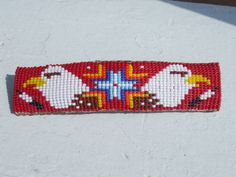 barrette ~ https://www.facebook.com/pages/Beaded-Moon-Designs/229870373249