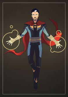 "redemsi: "" Strange ""Commissioned by xstrange ! Marvel Fan Art, Marvel Heroes, Doctor Strange Benedict Cumberbatch, Spiderman Pictures, Dr Fate, Superman, Batman, Doctor Stranger, Superhero Characters"