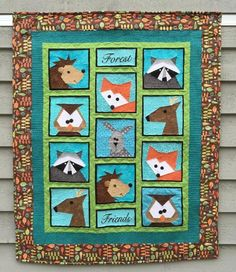 Forest Friends Paper Pieced Pattern | Craftsy