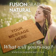 Fusion Graphic Mats Natural. www.fusiongraphicmats.co.uk #fusiongraphic #personalised