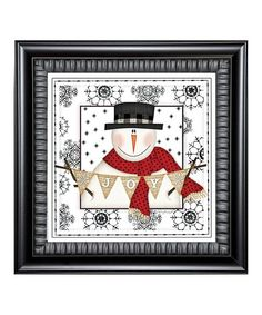 Karens Art & Frame Snowman Joy Framed Canvas | zulily