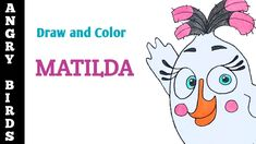 How to Draw and Color Matilda from Angry Birds Movie | YaazhiniFineArt Angry Birds Movie Characters, Matilda, Drawings, Movies, Color, Sketches, Films, Colour, Draw