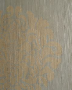This is our romantic, shabby chic, boho modern (a term I stole from decor8) stenciled lobby for Royal Design Studio. Stencil: Grand Damask - http://www.royaldesignstudio.com/products/grand-damask-stencil