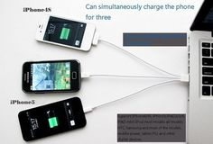 3 in 1 Micro USB Lightning Stunning Charging Cable Android Phone #New